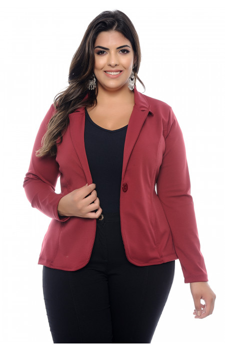 Blazer Plus Size Paris Marsala