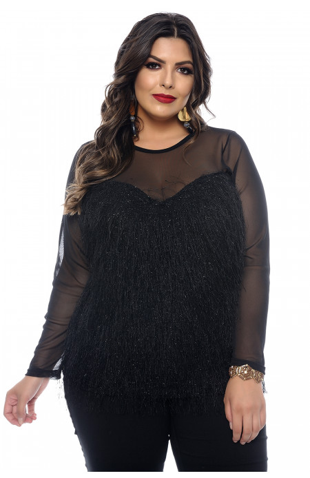 Blusa de Festa Plus Size Night Fever