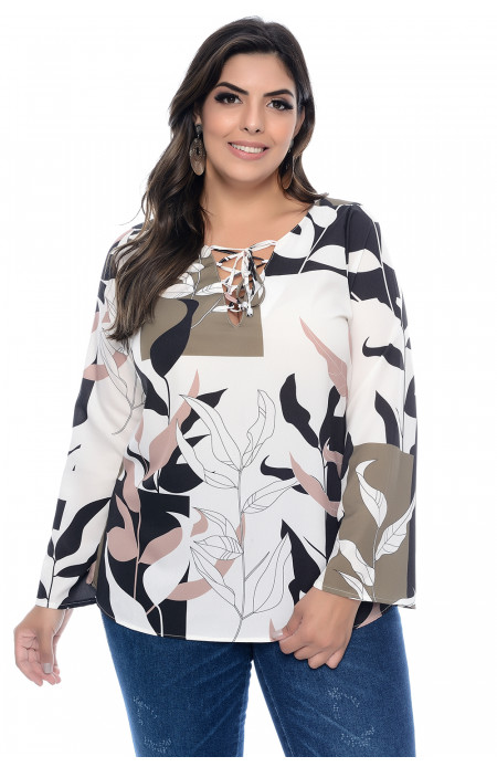 Blusa Plus Size Nature