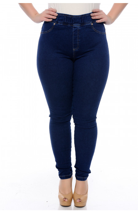 Calça Plus Size Legging Lycra Jeans New Up