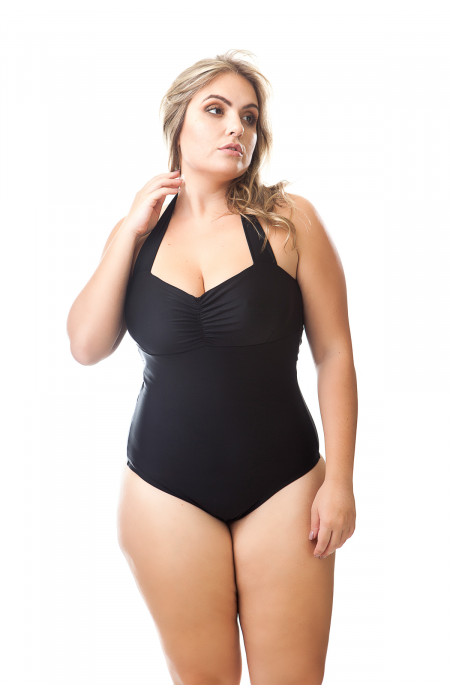 Maiô Plus Size Alice Preto