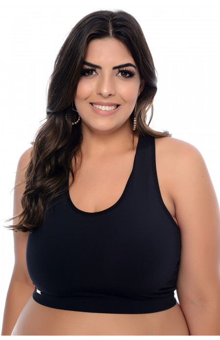 Top Plus Size Modelador Preto