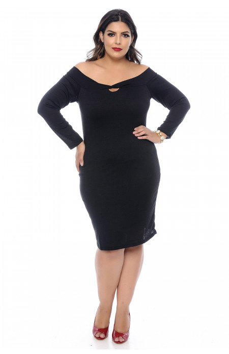 Vestido Tubinho Plus Size Night Out