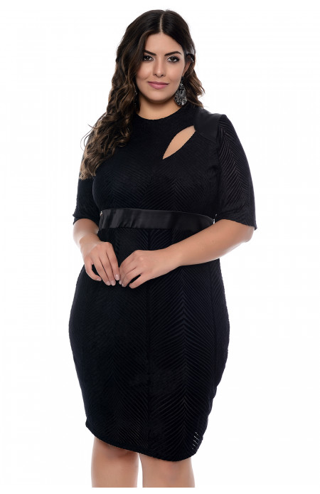 Vestido Plus Size Fishbone